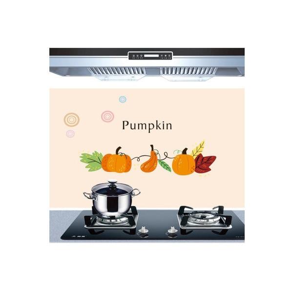 Самоклеющиеся обои для кухни из алюминиевой фольги, наклейки для кухонного шкафа, маслостойкие водонепроницаемые Мультяшные наклейки на стену - Цвет: M