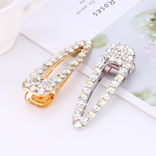 Bohopan 2019 High Quality Women Hair Clips Shining Crystal Gold/Silver Color Pins Female Wedding Party Accessories