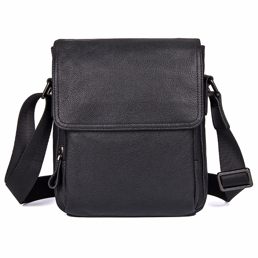 J.M.D Natural Real Cow Leather Sling Bag Black Messenger Bag Cross Body Fashional Shoulder Bags For Young 1033A j m d first layer cow leather flap bag classic and fashional messenger bag tiny cross body bag for young 7109c
