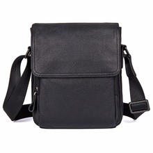 J.M.D  Natural Real Cow Leather Sling Bag Black Messenger Cross Body Fashional Shoulder Bags For Young 1033A
