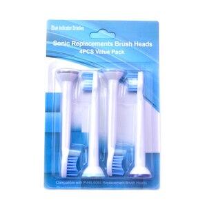 Image 1 - חדש P HX 6084 HX6084 סוניק מברשת שיניים החלפת ראשים אוראלי היגיינה נקי 400 יח\חבילה