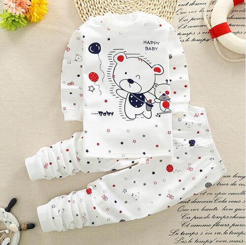 6d2d22d38d95a Winter baby 2pcs suit Infant Clothes Sets cartoon Newborn Baby clothes Sets  cotton baby boys girls 0-3 Month baby suit