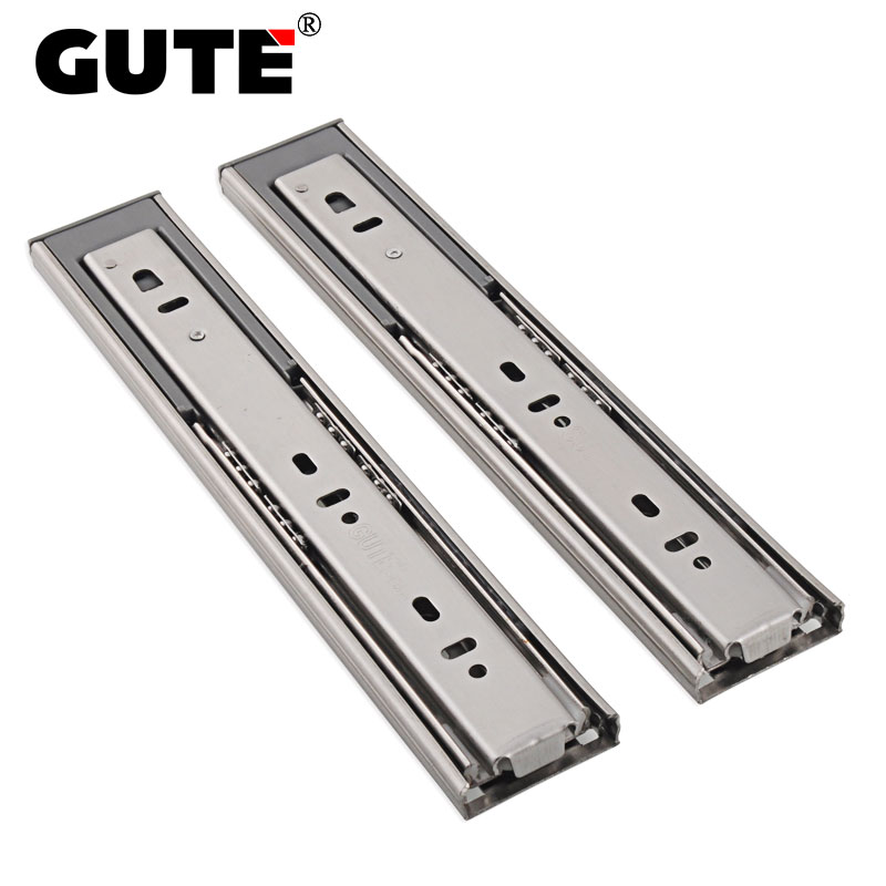 Gute Stainless Steel Hydraulic Three Section Drawer Slide