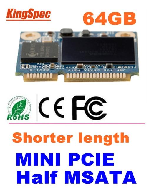 Kingspec mini pcie Half mSATA ssd 64GB SATA III SATA II 2.5*3cm Module ssd hdd 64gb For Tablet PC hard disk max:ssd 128gb msata
