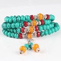 Ubeauty 6mm 108 turquoise beads bracelet  Buddha prayer mala bracelets Meditation necklace  women stone necklace