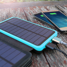 цена на 20000mAh External Battery Solar Power Bank for iPhone 4 5 5s iPhone 6 6s iPhone 7 8 iPhone X iPad Samsung Huawei Xiaomi LG Sony.