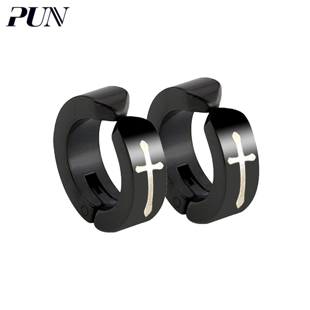 Pun Non Pierced Earrings For Men Earcuff Clip On Cartilage Cross Earring Clips Without Hole