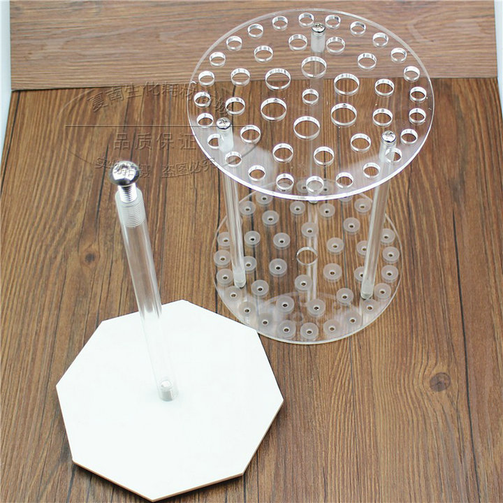 1Piece/lot 42 vents/holes Organic glass round shape rotatable pipette stand tube holder, pipet support rack