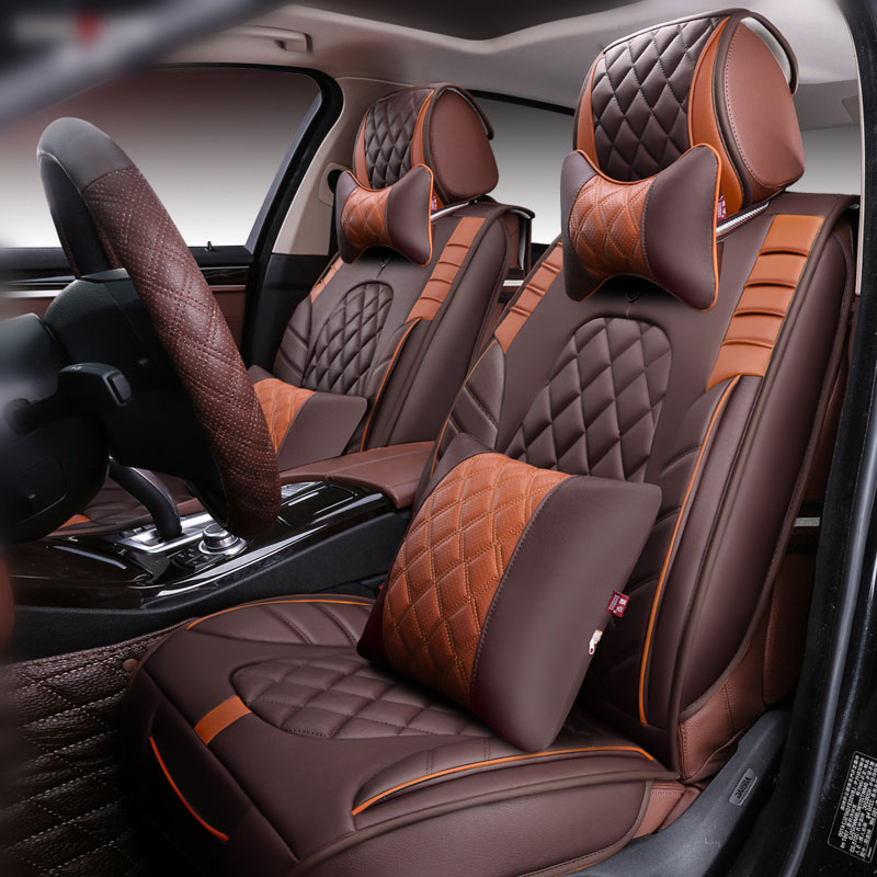 3D Styling Car Seat Cover For Toyota Corolla RAV4 Prius Prado Highlander Sienna zelas verso Mark X Crown ,Car pad