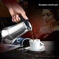 12 컵/600ml 대용량 에스프레소 메이커 모카 포트 스테인레스 스틸 304 라떼 퍼콜 레이터 오피스 패밀리 파티 팔각 커피 주전자-에서커피포트부터 홈 & 가든 의