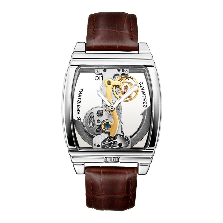 HTB1hrw1SsfpK1RjSZFOq6y6nFXaK Transparent Automatic Mechanical Watch Men Steampunk Skeleton Luxury Gear Self Winding Leather Men's Clock Watches montre homme