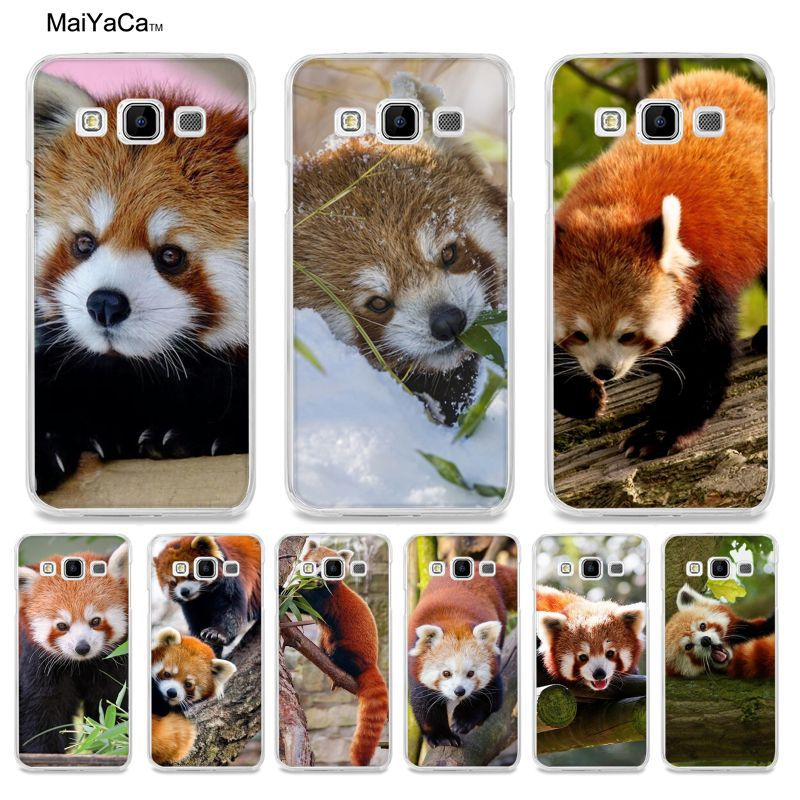 Maiyaca животного красная панда Хит продаж кожа тонкая ПК сотовый Чехол для Samsung A3 A5 A7 A8 A9 Note4 Note5