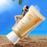 Beauty 50g Facial Sunscreen Cream SPF30 Lsolation UV Sunblock Body Sunscreen Concealer Lasting Sunscreen Summer Beach