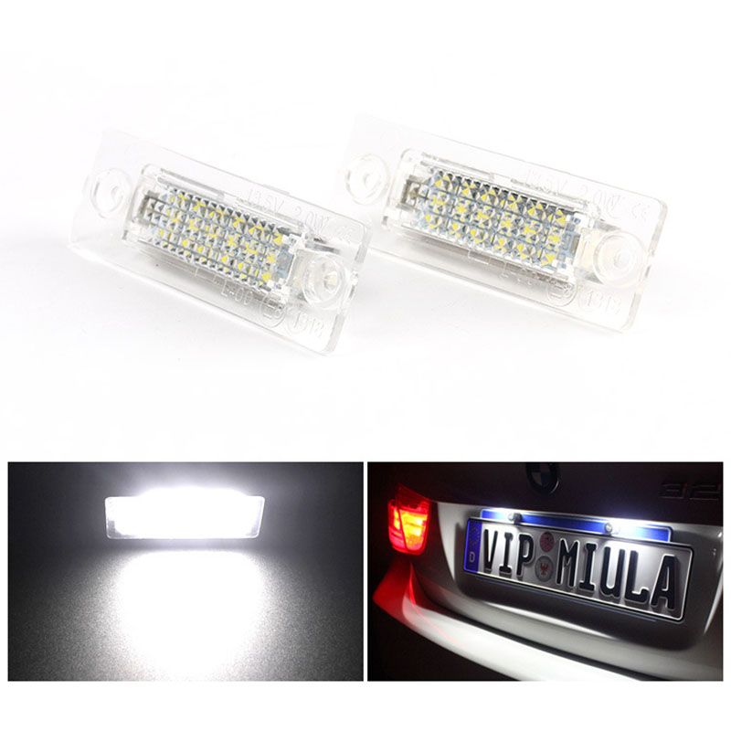 Detail Feedback Questions about 2Pcs 18 LED 3528 SMD Number License Plate  Light Lamp Car Styling for VW Touran Caddy 3 Golf 5 Plus Jetta 5 Passat  B5.5 B6 ... 1dde62122c8e