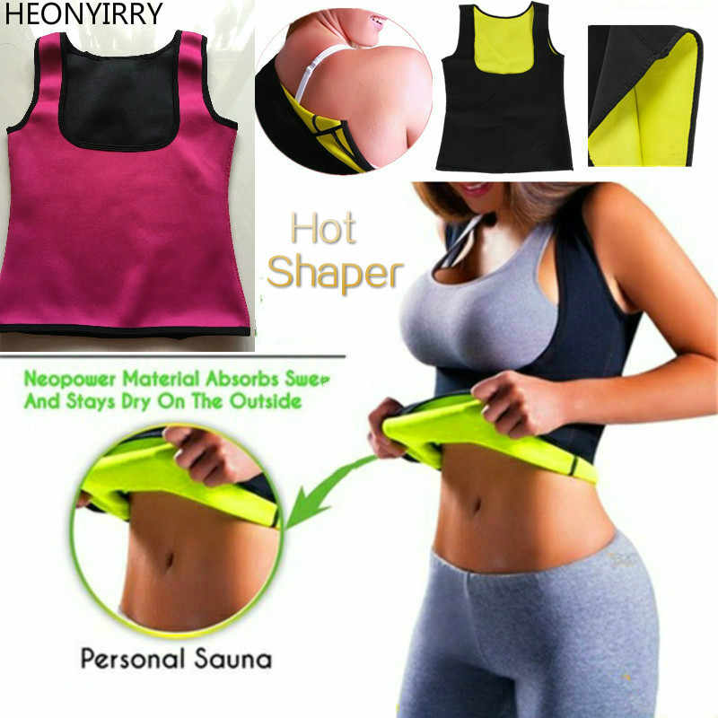 d325d9d8936 Women Neoprene Sweat Sauna Hot Body Shapers Vest Waist Trainer Slimming  Weight Loss Waist Cincher Anti