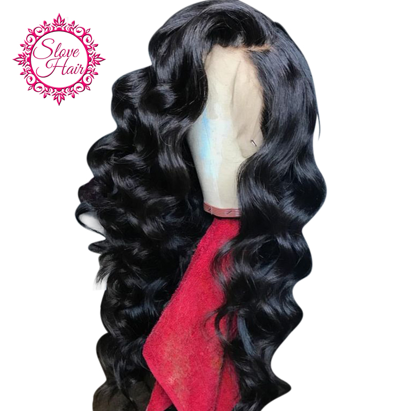 250 Density Lace Front Human Hair Wigs For Women Natural Black Remy Brazilian Bouncy Curly Frontal