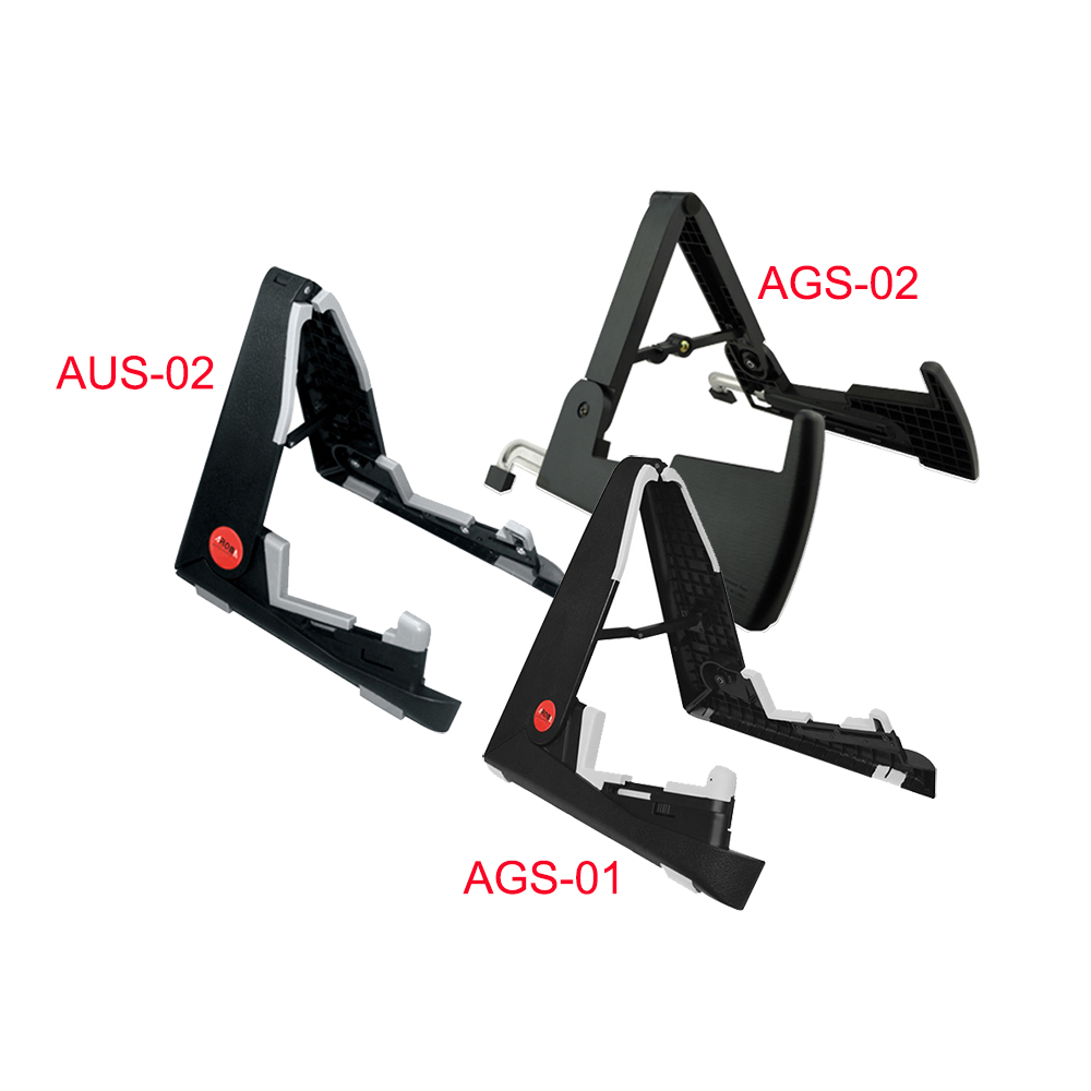 Aroma AUS-02/AGS-02/AGS-01 Instrument Stand for Electric Guitars/Basses/Ukulele/violin/Mandolins/Small Instrument Guitar Parts sews aroma ags 03 stand a frame holder bracket for all sizes of guitars basses stringed instrument universal