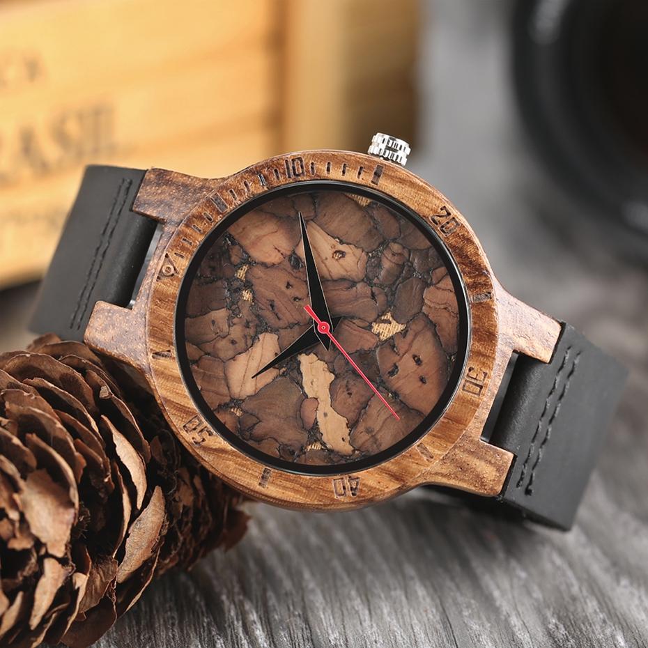 Creative Full Natural Wood Male Watches Handmade Bamboo Novel Fashion Men Women Wooden Bangle Quartz Wrist Watch Reloj de madera 2017 (70)