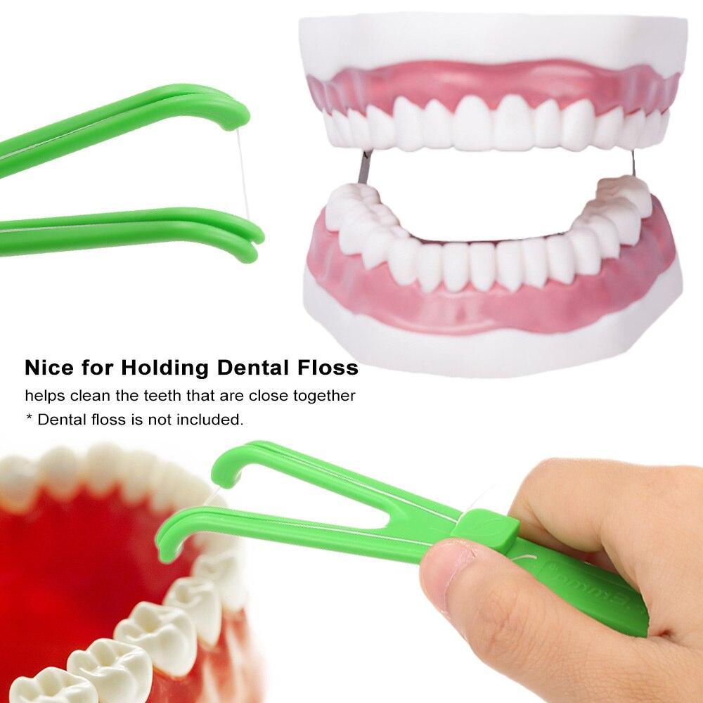 1 шт. стоматологический держатель зубной нити Y Форма помощи гигиены полости рта Подставка Для Зубочисток для ухода за зубами межзубные инструменты для чистки зубов случайный цвет