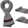 Bufanda de moda de lujo de los hombres de invierno para hombre de la bufanda de Invierno bufandas sjaal invierno de Lana gruesa bufanda de Cachemira tejer Chal A Cuadros 180*30 cm