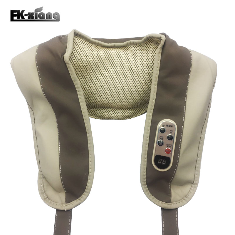 Neck Massagers FK Xiang Beat Electric Massage Shawls Cervical Vertebra Massage Belt Neck Shoulder Waist Knock