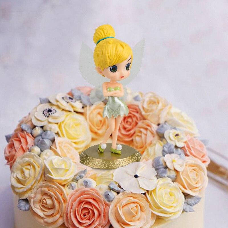 1pc Mermaid Snow White Princess Cupcake Cake Toppers Girls Birthday Decorating Tools Alice Jasmine Tinkerbell Figure Dolls