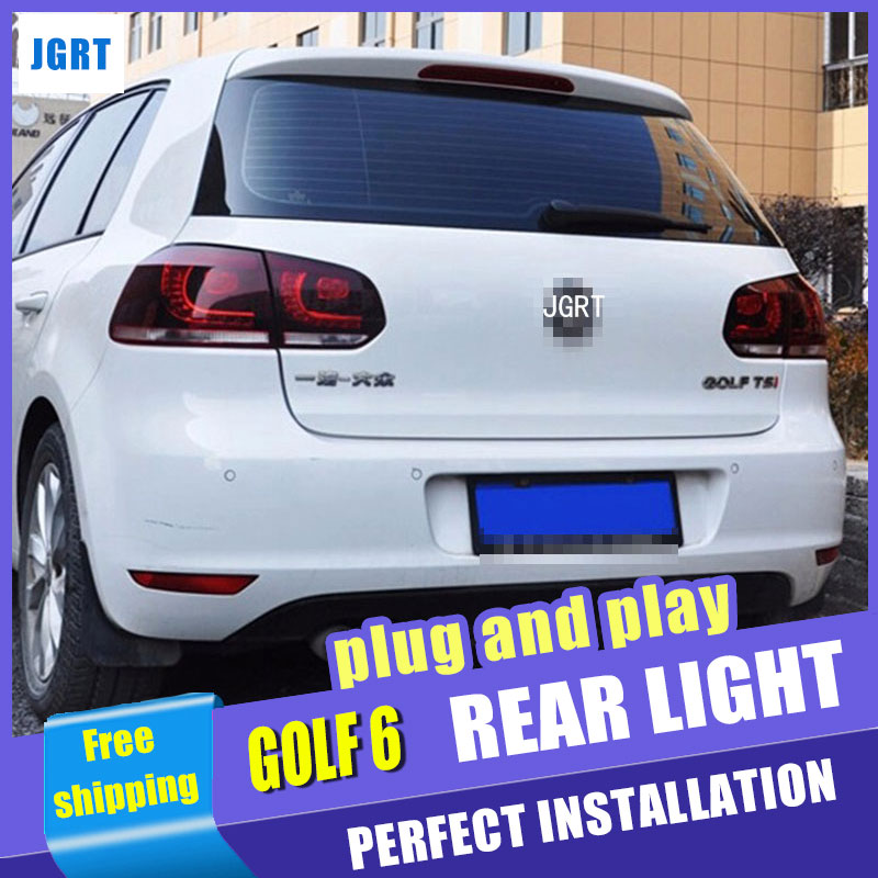 Car Styling For VW Golf 6 taillight assembly 2009-2012 for Vw Golf6 led tail light R20 rear lamp cover drl+signal+brake 2pcs. car parts tail lamp for vw golf 6 2008 2009 2010 2011 2012 2013 led tail light rear lamp plug and play design