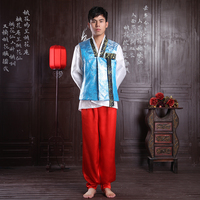 2017 Autumn Men Hanbok Costume Top Pant Korean Hanbok Male Korean Traditional Clothing Stage Dance Performance