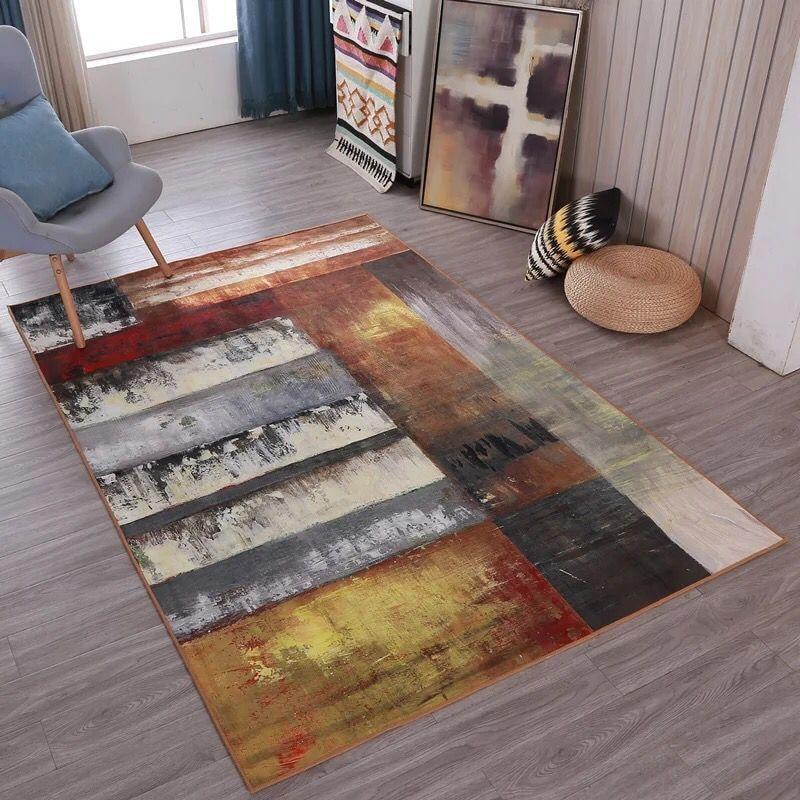 Grand Tapete Tapis Pour Salon Chambre Chambre D'enfants Nordique Abstrait Art Canapé Tapis Paillasson De Yoga Pad Antidérapant Étage tapis