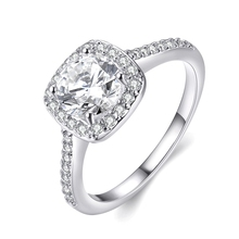 Fashion Women Rings 2016 Female Silver Plated Wedding Engagement Ring  Inlaid stone send to girlfriend factory direct sale