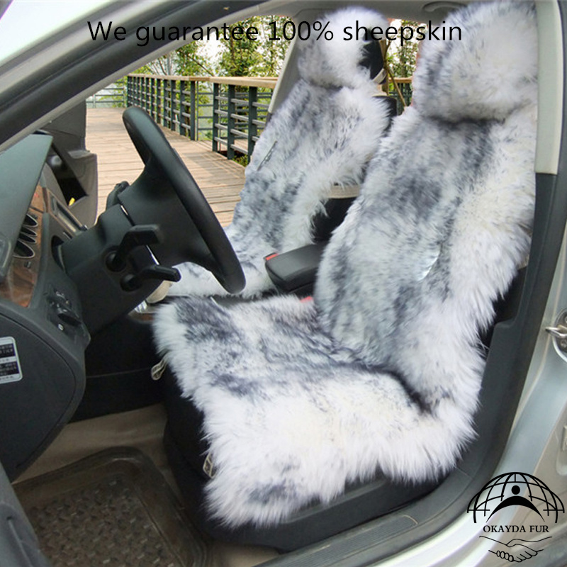 1 piece Australia sheepskin car seat covers real fur car interior accessories cushion styling winter new