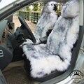 1 unidades Australia piel de oveja asiento de coche cubre accesorios interiores del coche cojín de piel real estilo nuevo invierno cubierta de felpa asiento de coche