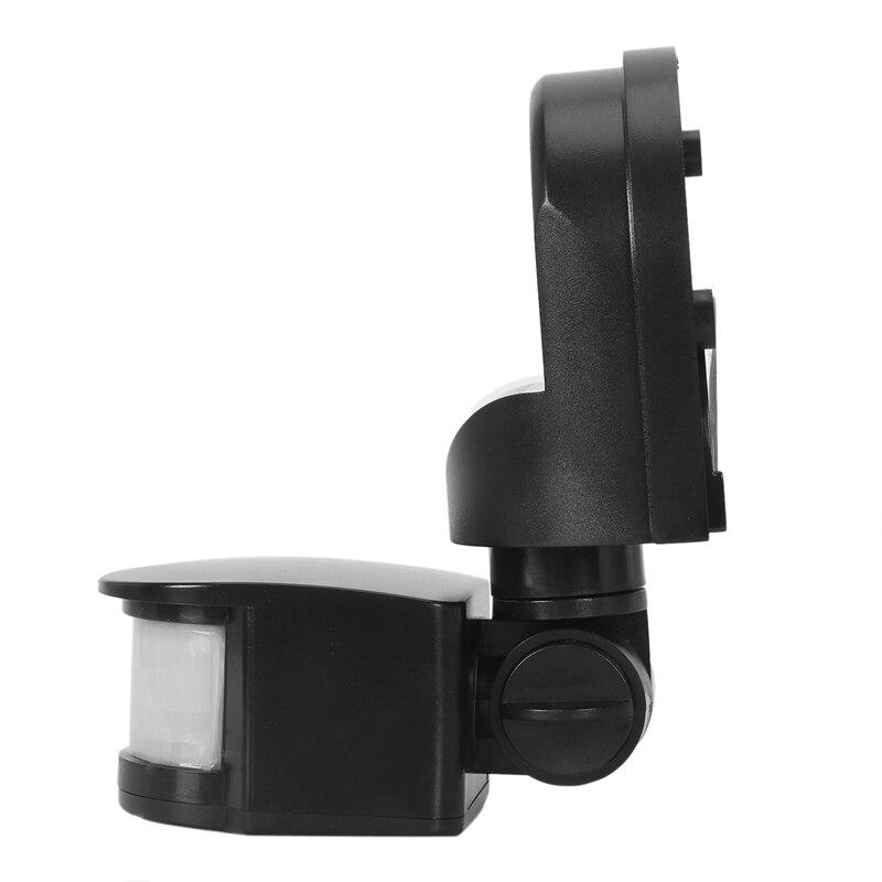 Ac110V ~ 240V zewnętrzny czujnik Pir przełącznik czujnika ruchu lampa ścienna 180 stopni czujnik Pir czujnik ruchu Led przełącznik #8