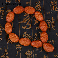 Dankaishi Olive Nucleus Carved Eighteen Loha Bracelets Women Men Hand Srand Beads Bracelet Buddhism Believe Buddhist DKSFZ013