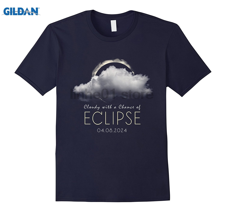 GILDAN Total Solar Eclipse Spring April 8, 2024 T Shirt Cloudy Dress female T-shirt