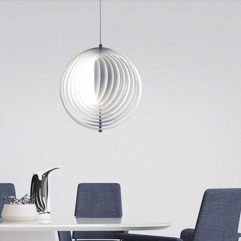 Switzerland Verpan Aluminum Moon pendants Lamp led pendants Best quality Verner Panton design pendants free shipping hot selling verner panton design 3 circle diy shell pendant lamp
