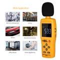 Digital Sound Level Meter Dezibel Tester dB Meter Lärm Volumen Messgeräte Für Umwelt Automotive Studie Industrie-in Schallpegelmesser aus Werkzeug bei