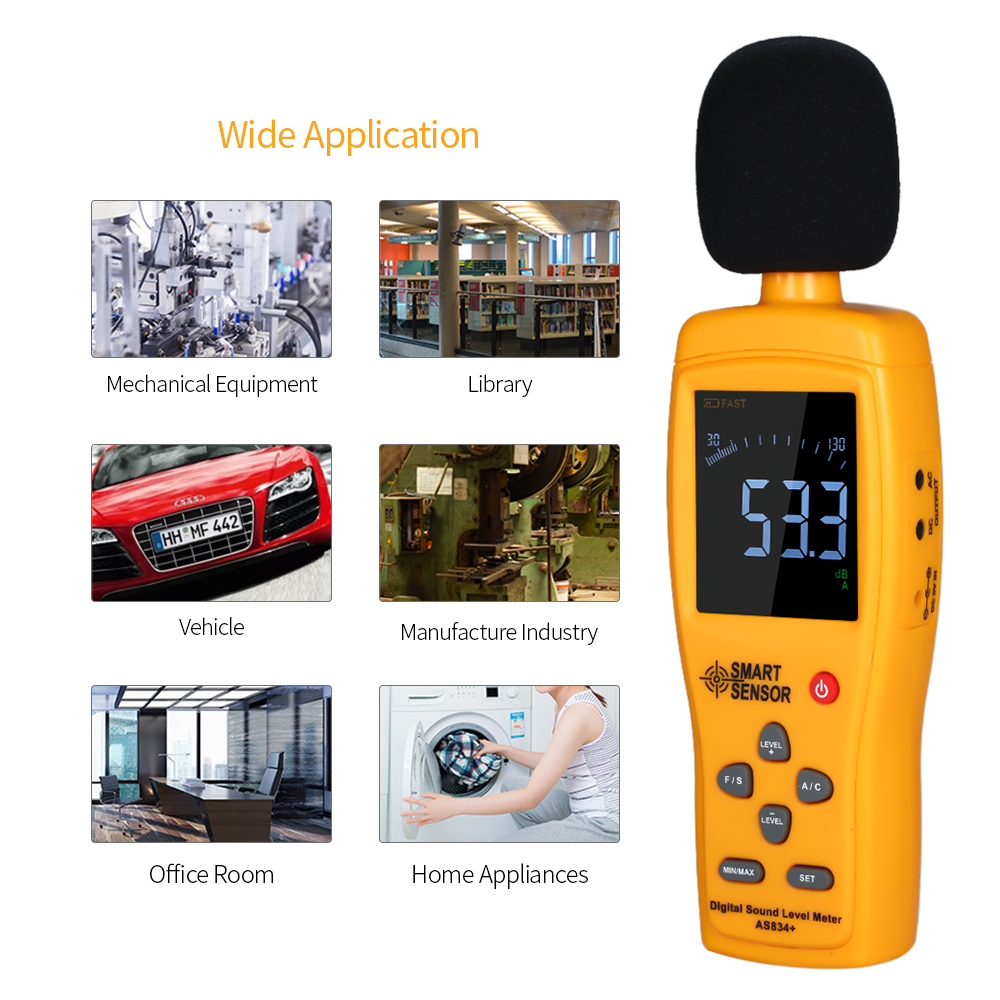 Instruments de mesure de Volume de bruit de mètre de dB d'appareil de contrôle de décibel de sonomètre numérique pour l'étude automobile d'environnement industriel