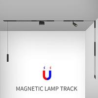 creative magnetic lamp holder aluminum 0.5M 1M ceiling recessed suspended LED magnet mount lights track Rail