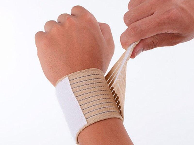 1 Pair Elastic hand wrist straps sport wristbands support wrist protector carpal tunnel wrist brace gym wraps