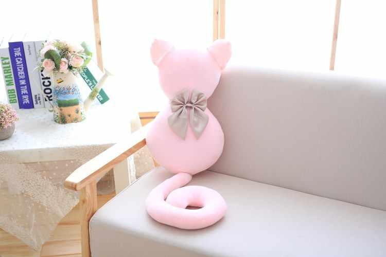 Nuevo juguete de felpa gato adorable peluche sofá almohada niños apaciguar muñeca dormir Regalo de Cumpleaños creativo para niñas