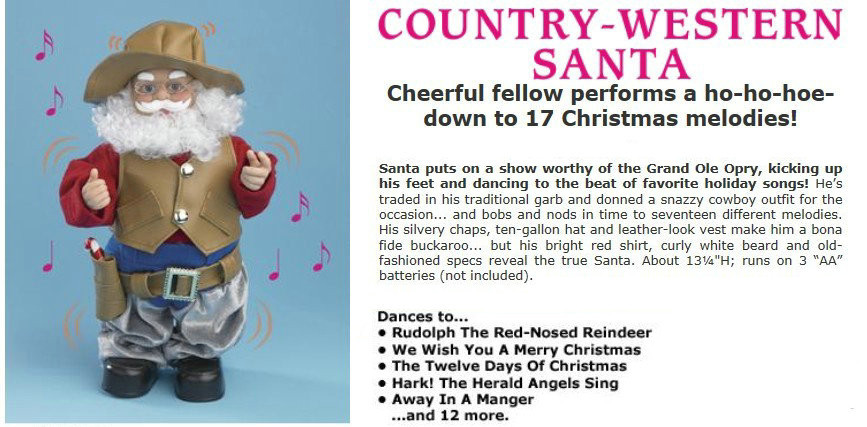 Dancing Santa-Cowboy