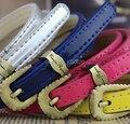 Women fashion PU Belt thin skinny waistband with polished buckle 11colors assorted Women dress belt