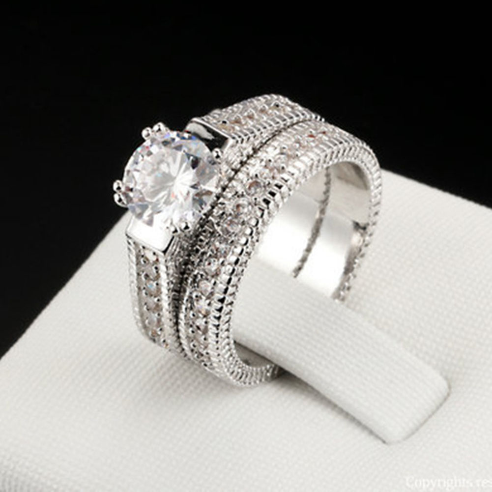 Hot Sale Valentines Gift Double Ring For Women Lovers Ring