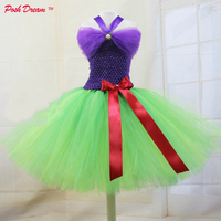 POSH DREAM Mermaid Kids Girls Cosplay Tutu Dress and Matching Bow Princess Ariel Birthday Party Baby Girls Dress Kids Clothes
