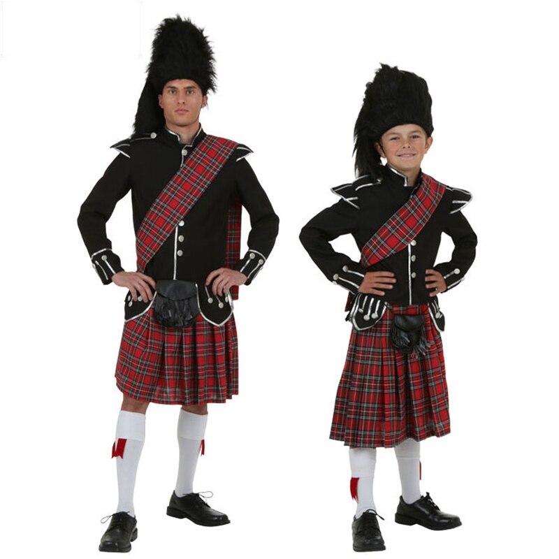 ADULT/'S SCOTSMAN HIGHLAND SCOTTISH KILT AND HAT COSTUME MEN/'S FANCY DRESS