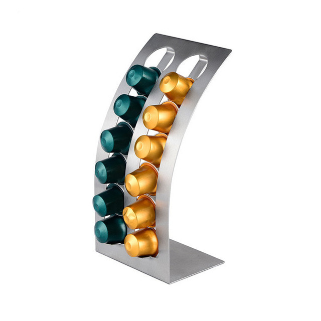 1PC Coffee Pod Holder Rack L Shaped Capsule Storage Stand For 12pcs  Nespresso Capsule