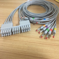 2018 Free Shipping Compatible for Mortara ELI 230l Telemetry ECG Holter Cable with 10 Leadwires, Banana end,AHA Standard TPU