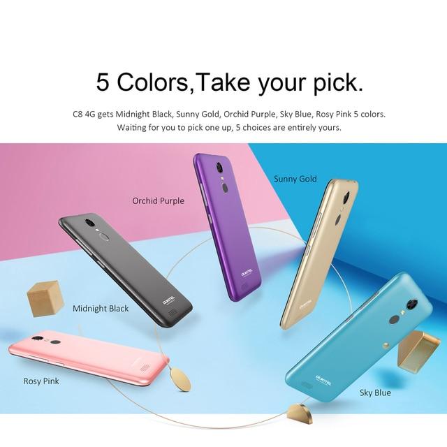 OUKITEL C8 4G Smartphone 18:9 5.5 Inch HD Display Android 7.0 MT6737 Quad-Core 2GB RAM 16GB ROM 13MP+5MP 3000mAh Mobile Phone (Copy)