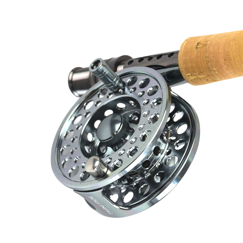 3/4 5/6 7/8 9/10 WT Aluminum Fly Fishing Reels CNC machined Large Arbor Fly Reel 2+1BB 1:1 For Trout Fishing Accessories